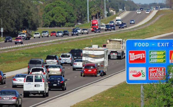 I-75 Photograph - Food Next Exit - 3 by Larry Mulvehill