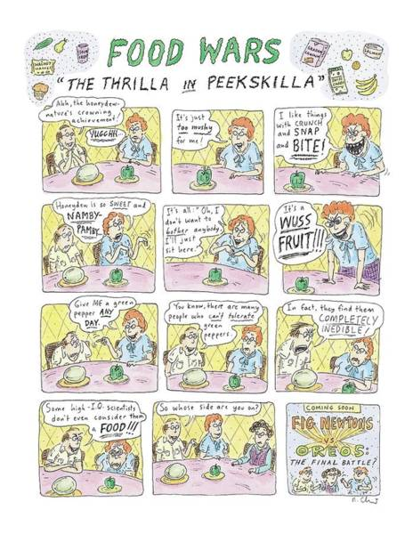 Battle Drawing - Food Wars: Thrilla In Peekskilla by Roz Chast