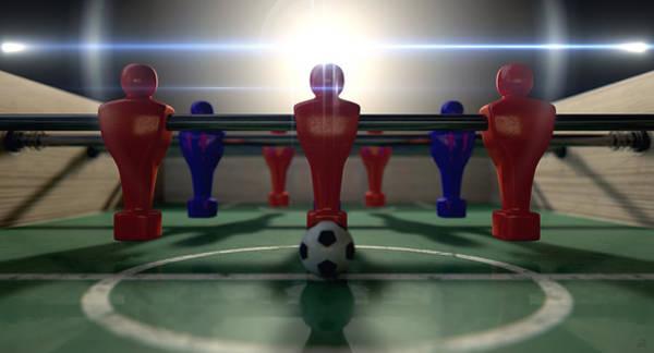Pitch Digital Art - Foosball Table by Allan Swart