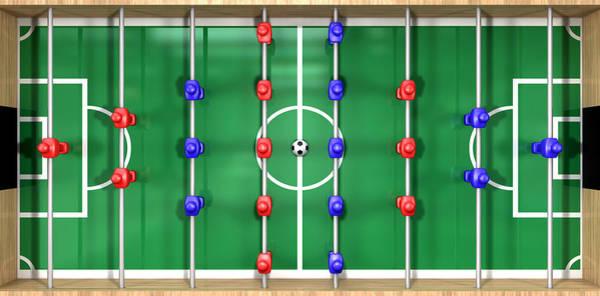Pitch Digital Art - Foosball Table Top View by Allan Swart