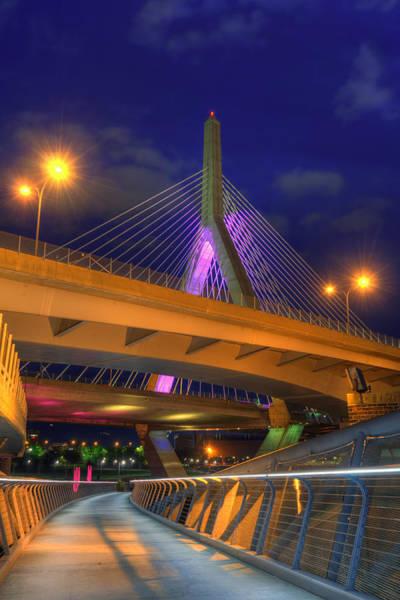 Photograph - Foot Bridge Under The Zakim Bridge by Joann Vitali
