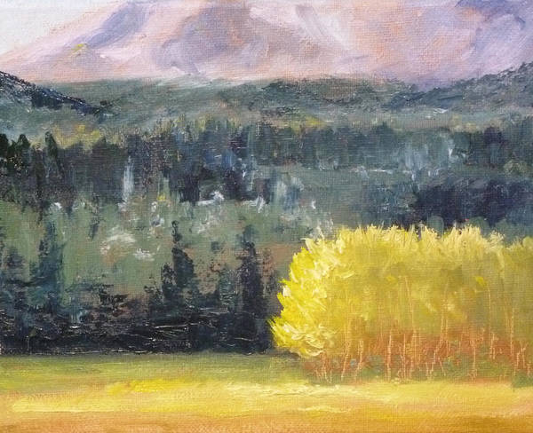 Poplar Painting - Foot Of The Mountain by Nancy Merkle