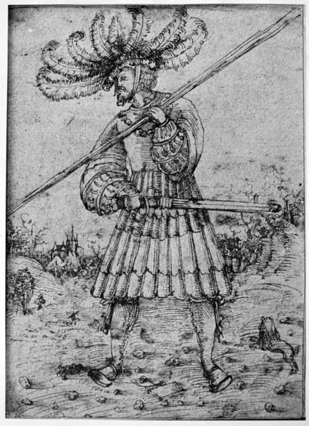 Drawing - Foot Soldier, C1510 by Granger