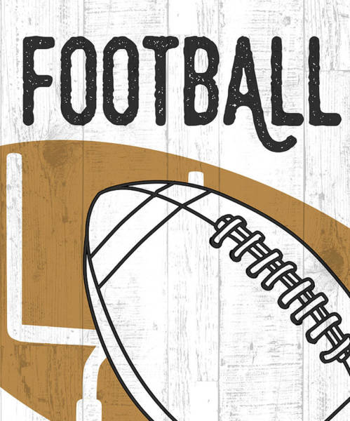Father Wall Art - Painting - Football by Aubree Perrenoud