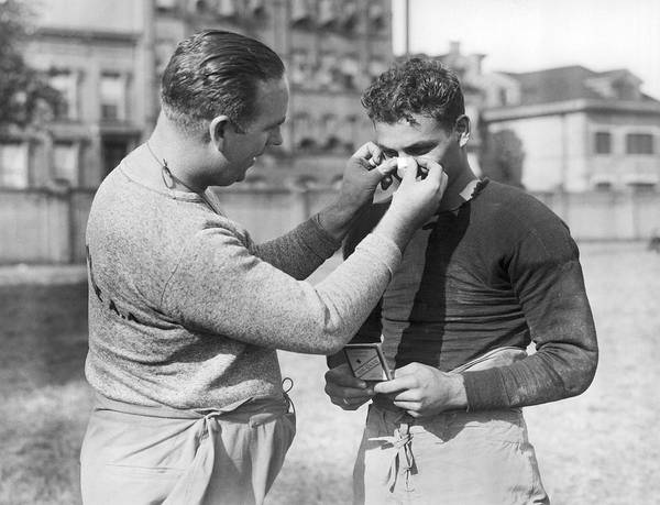 Sick Photograph - Football First Aid by Underwood Archives