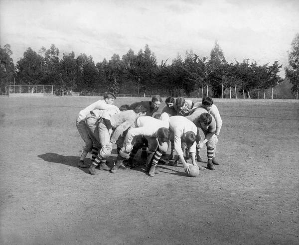 1894 Photograph - Football Flying Wedge by Isaiah Taber