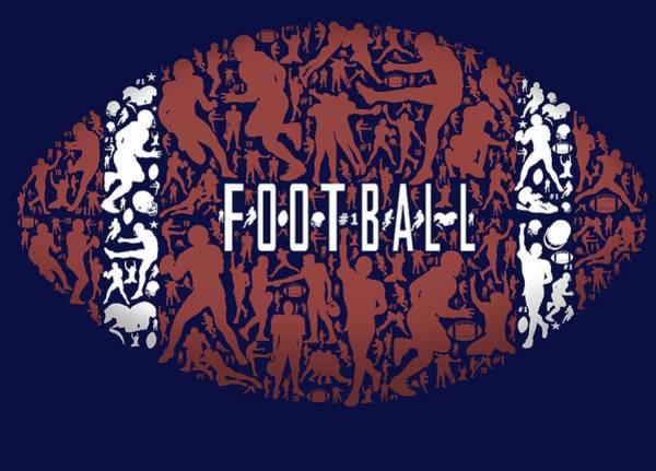 Father Wall Art - Painting - Football by Jim Baldwin