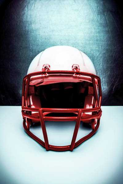 Football Helmet Photograph - Football Madness by Marilyn Nieves