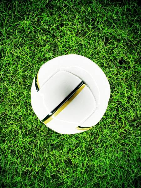 Playing Field Wall Art - Photograph - Football by Patrick Llewelyn-davies/science Photo Library