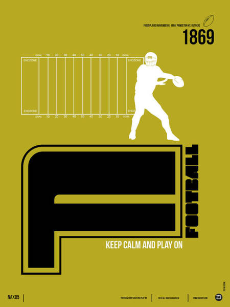 Gamer Digital Art - Football Poster by Naxart Studio