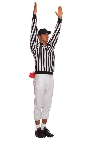 Football Referee Signaling Touchdown Art Print by Comstock