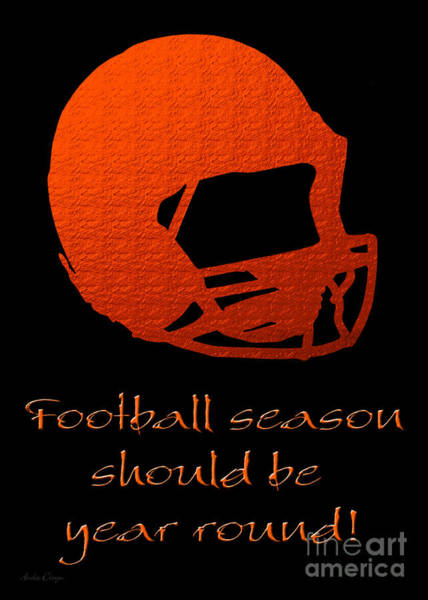 Digital Art - Football Season Should Be Year Round In Orange by Andee Design