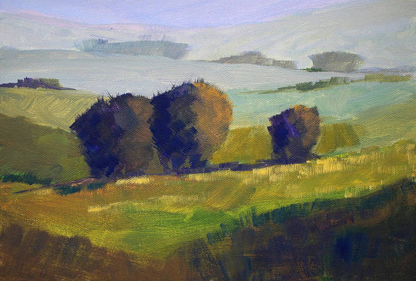 Prairie Grass Painting - Foothills Landscape by Nancy Merkle