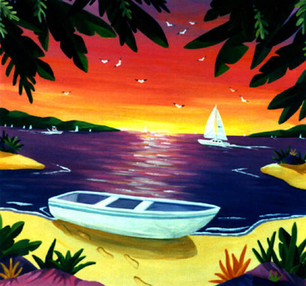 Painting - Footprints In Paradise by Lance Headlee