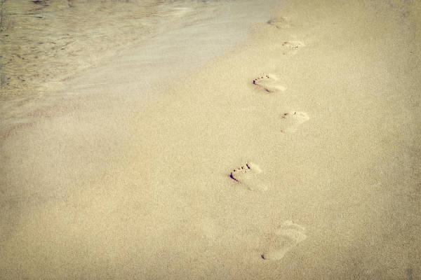 Holland Mi Wall Art - Photograph - Footprints In The Sand by Emily Kay