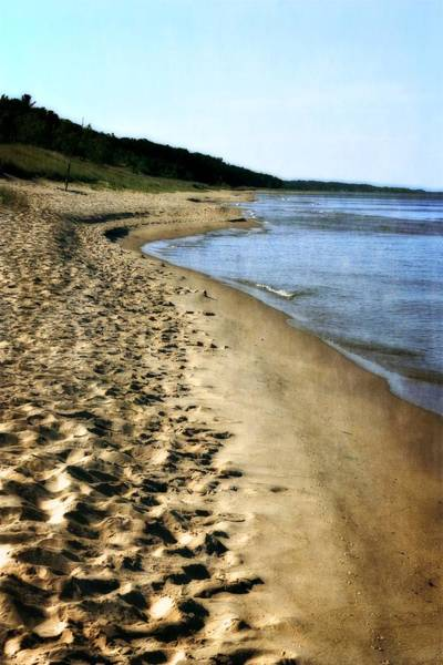 Holland State Park Photograph - Footprints In The Sand by Michelle Calkins
