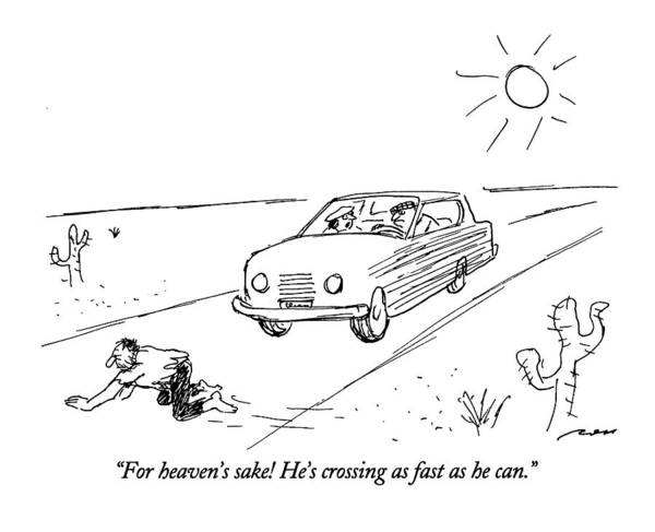 Highway Drawing - For Heaven's Sake by Al Ross