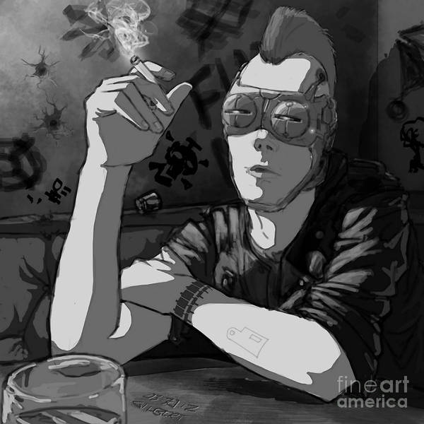 Dive Bar Digital Art - For Hire by Brian Gilbert