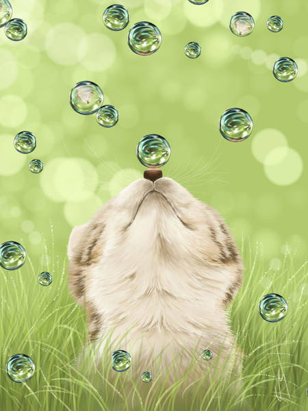 Bubbles Painting - For Kicks by Veronica Minozzi