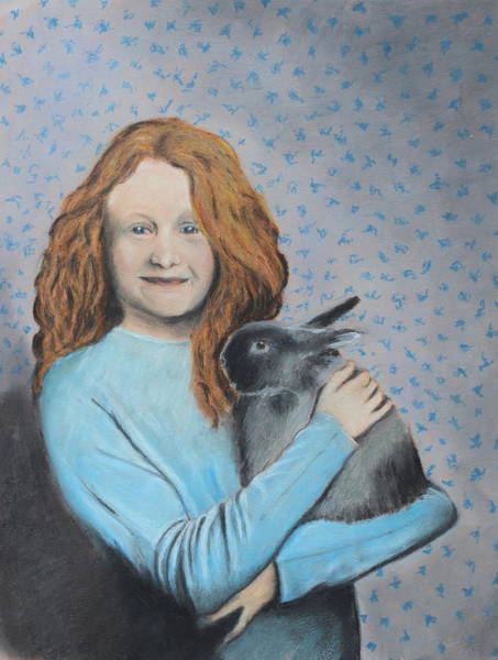 Wall Art - Painting - For The Love Of Bunny by Jeanne Fischer