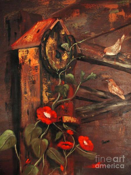 Wren Painting - For Wrent by Sharon Burger