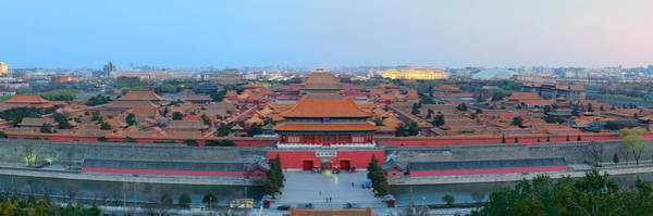 Photograph - Forbidden City At Dusk by Songquan Deng