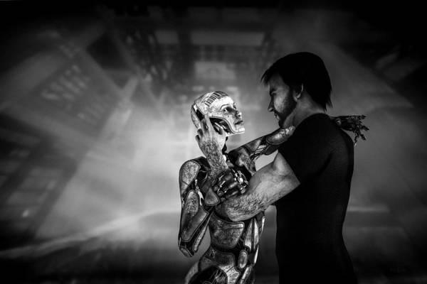 Digital Art - Forbidden Love Vanishing Memory Machine 2 by Bob Orsillo