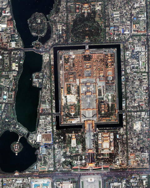Forbidden City Photograph - Forbidden Palace by Geoeye/science Photo Library