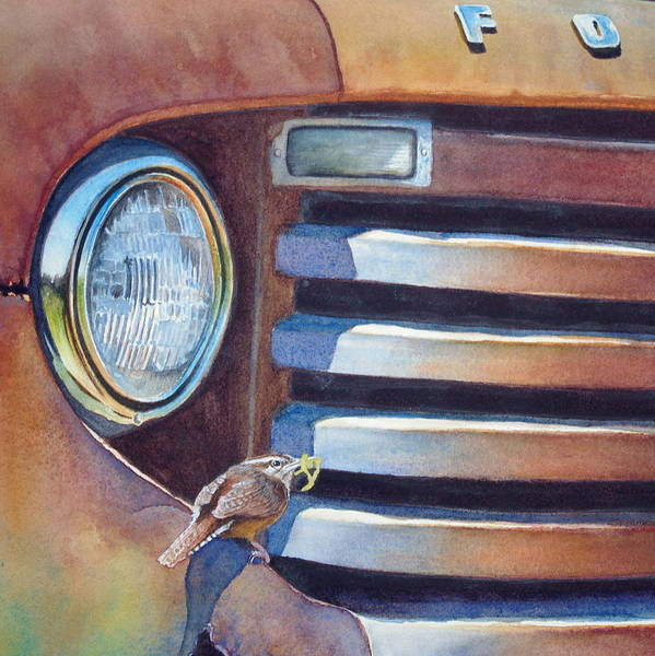 Painting - Ford And Wren by Greg and Linda Halom