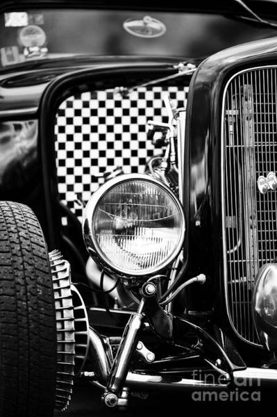 Street Rod Photograph - Ford Dragster Monochrome by Tim Gainey