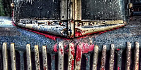Dump Truck Photograph - Ford Dump Truck Grille Pan by Ken Smith