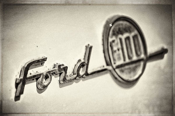 Pick Up Truck Photograph - Ford F-100 by Caitlyn  Grasso
