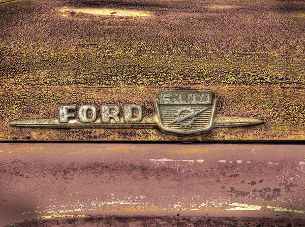 Photograph - Ford F-100 by Thomas Young