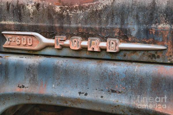 Photograph - Ford F-600 Emblem by Adam Jewell