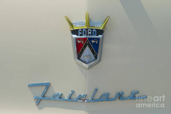Photograph - Ford Fairlane Crown Victoria Emblem by Mark Dodd