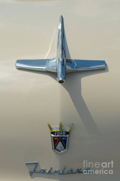 Photograph - Ford Fairlane Crown Victoria Hood Ornament  by Mark Dodd