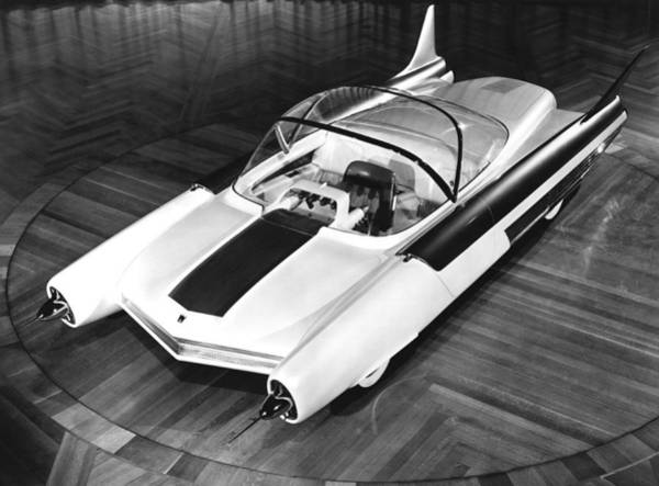 Detroit Auto Show Photograph - Ford Fx-atmos Concept Car by Underwood Archives