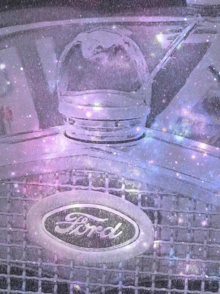 Mixed Media - Ford Galaxy by Trish Tritz