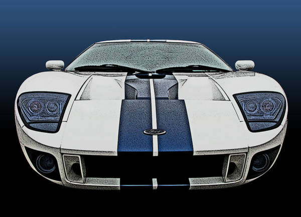 Photograph - Ford Gt-40 Head On by Samuel Sheats