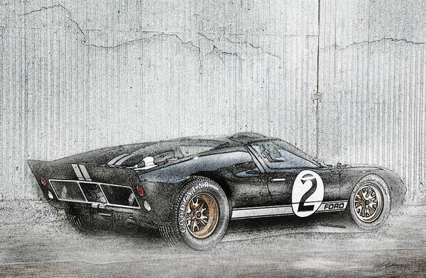 Wall Art - Digital Art - Ford Gt40 by Peter Chilelli