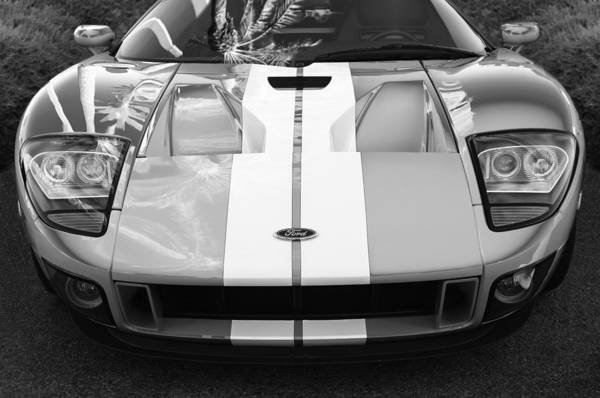 Exotic Car Photograph - Ford Gt40 Sports Car -0045bw by Jill Reger