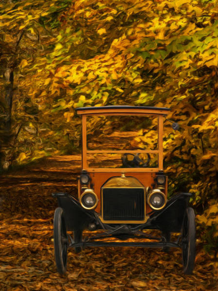 Historic Car Painting - Ford by Jack Zulli