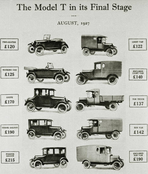Ford Van Photograph - Ford Model T Vehicles by Science Photo Library