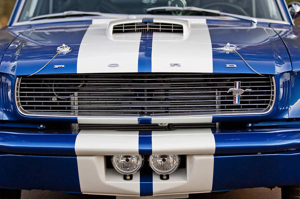 Ford Mustang Photograph - Ford Mustang Grille Emblem by Jill Reger
