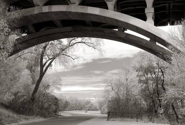 Ford Parkway Bridge Over West River Road In Minneapolis Art Print