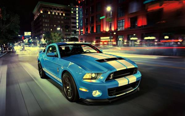 Photograph - Ford Shelby Gt500 2014 by Movie Poster Prints