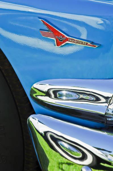 Photograph - Ford Thunderbird Emblem -0505c by Jill Reger