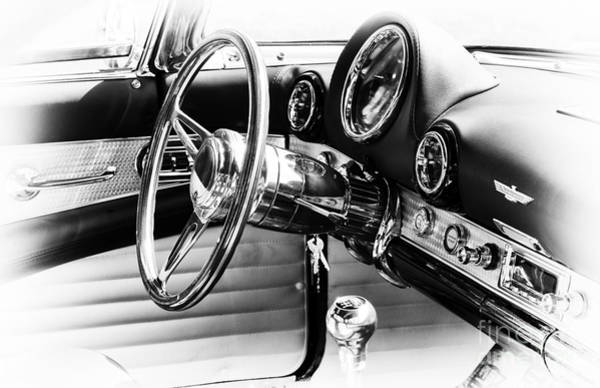 Ford Motor Company Photograph - Ford Thunderbird Interior by Tim Gainey