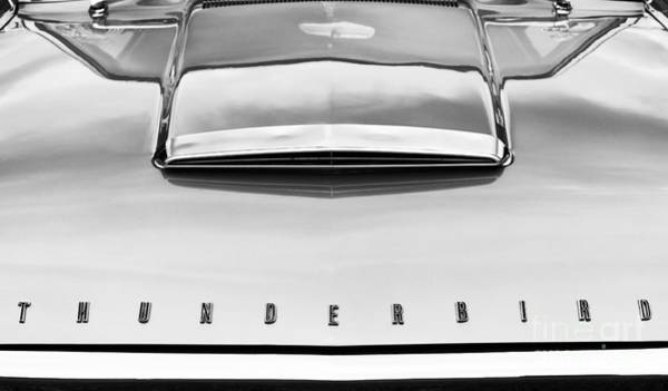 Ford Motor Company Photograph - Ford Thunderbird Monochrome by Tim Gainey