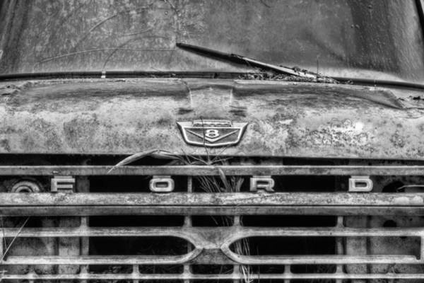 Photograph - Ford Tough Bw by JC Findley